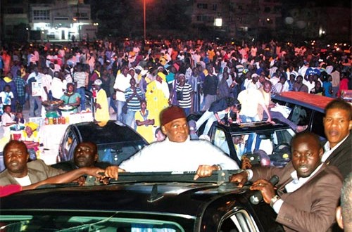 L'accueil triomphal de Abdoulaye Wade